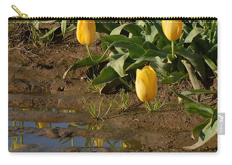 Tulips Carry-all Pouch featuring the photograph Tulip Reflections by Out West Originals