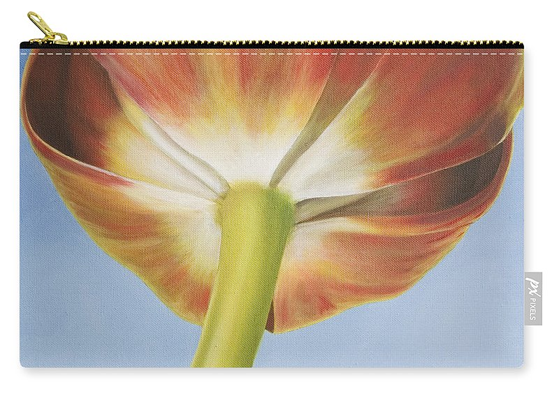 Flower Carry-all Pouch featuring the painting Tulip by Rob De Vries