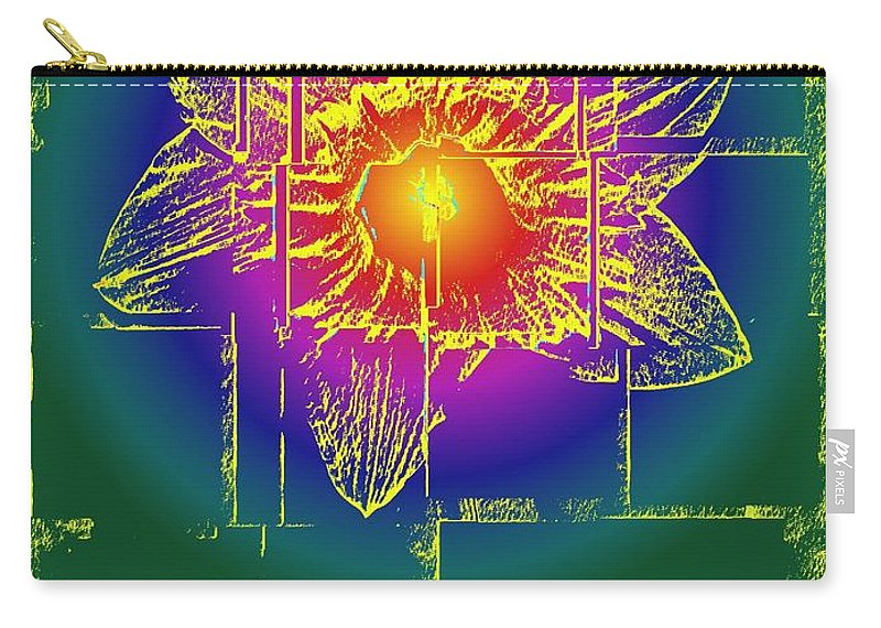 Tulip Carry-all Pouch featuring the digital art Tulip by Tim Allen