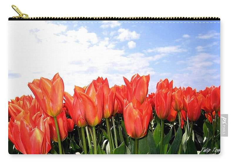 Agriculture Carry-all Pouch featuring the photograph Tulip Town 17 by Will Borden