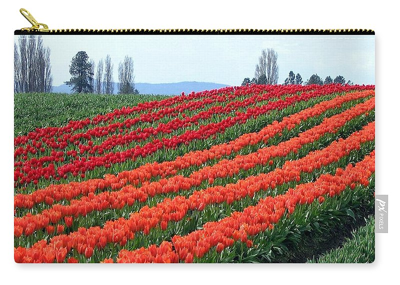 Agriculture Carry-all Pouch featuring the photograph Tulip Town 18 by Will Borden