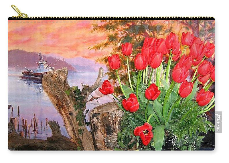 Agriculture Carry-all Pouch featuring the photograph Tulip Town 19 by Will Borden