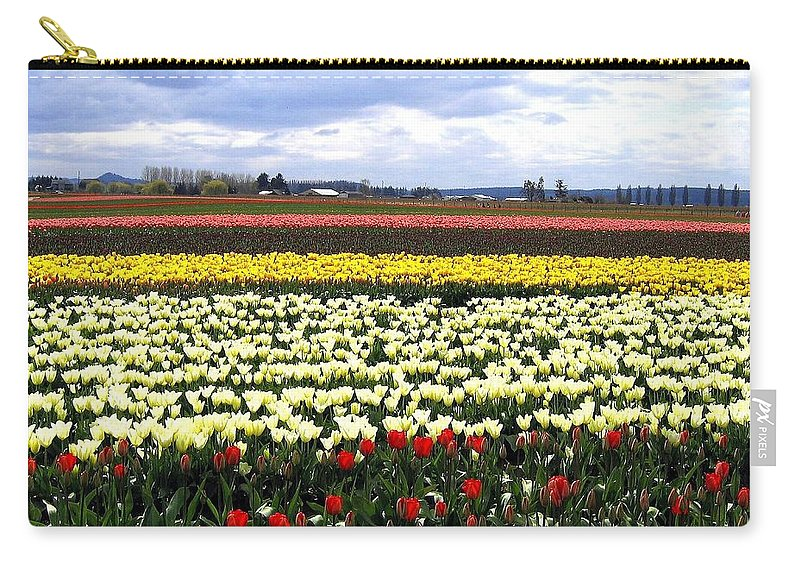 Agriculture Carry-all Pouch featuring the photograph Tulip Town 4 by Will Borden