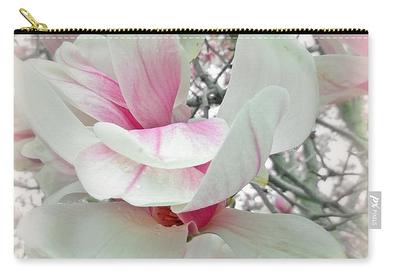 Magnolia Carry-all Pouch featuring the photograph Tulip Tree Blossoms - Magnolia Liliiflora by Mother Nature
