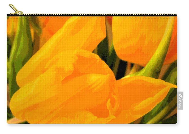 Tulip Carry-all Pouch featuring the photograph Tulips by Amanda Barcon