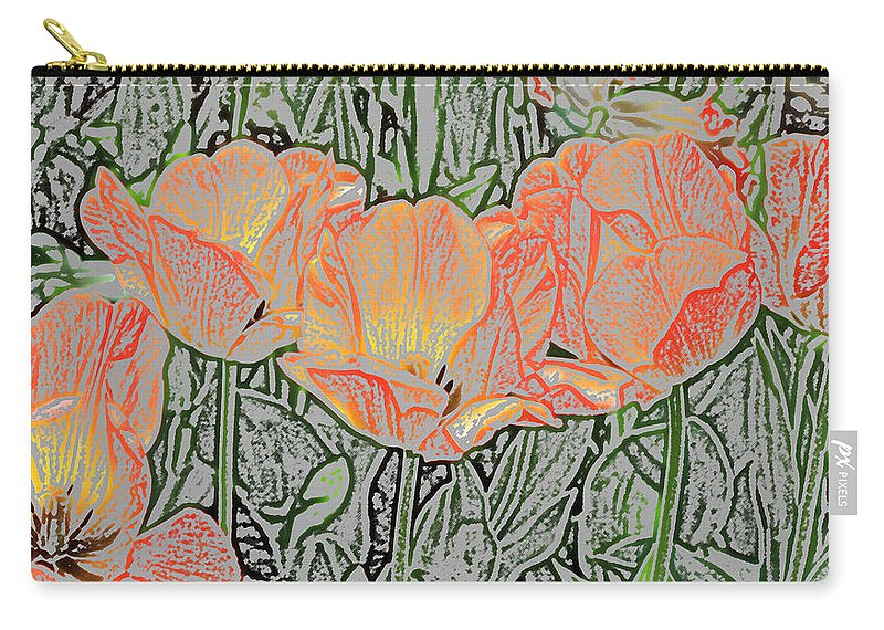 Sherwood Gardens Carry-all Pouch featuring the photograph Tulips by Donna Haggerty