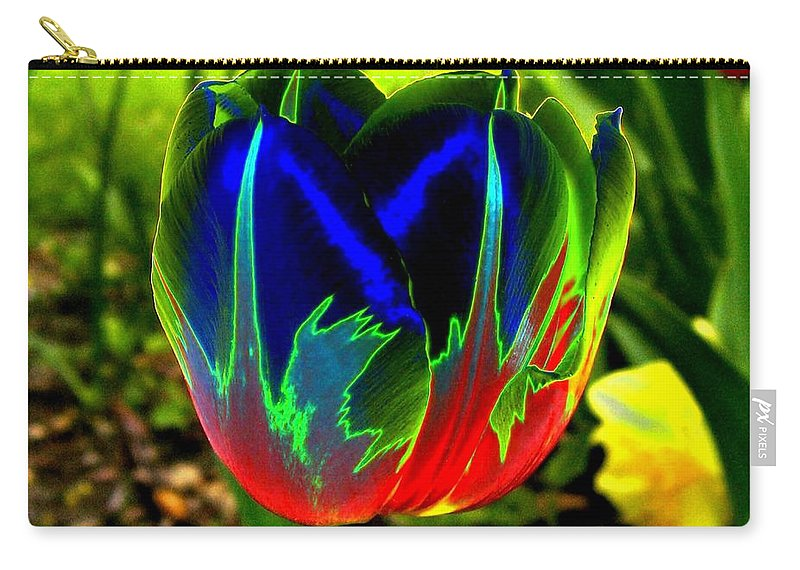 Resplendent Carry-all Pouch featuring the digital art Tulipshow by Will Borden
