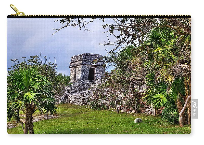 Tulum Carry-all Pouch featuring the photograph Tulum Watchtower by Tammy Wetzel