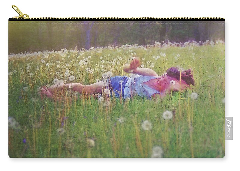 Tumble Carry-all Pouch featuring the photograph Tumble In The Grass by JAMART Photography
