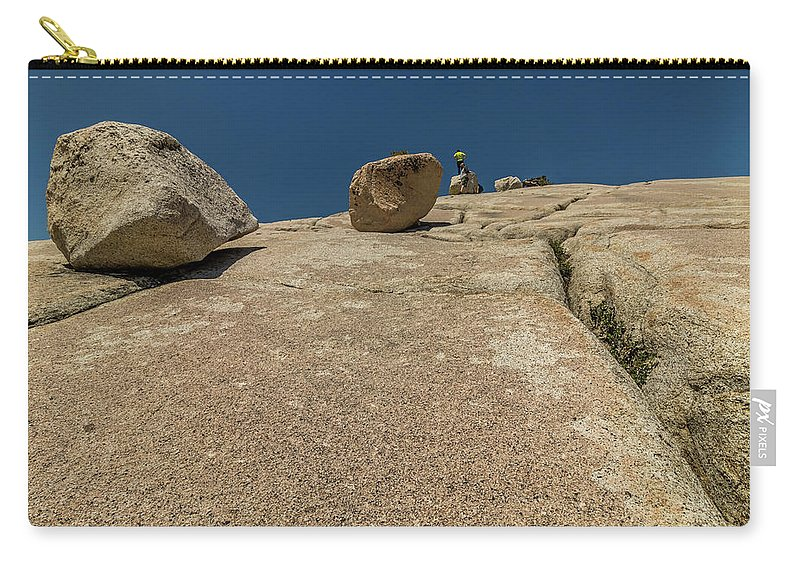 Yosemite Carry-all Pouch featuring the photograph Tumbling Boulders by Ronald Greenberg