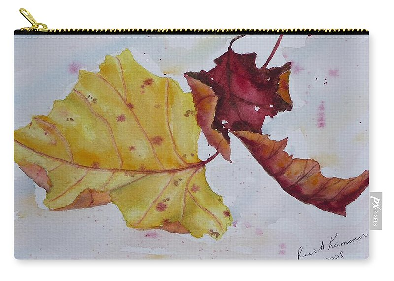 Fall Carry-all Pouch featuring the painting Tumbling by Ruth Kamenev