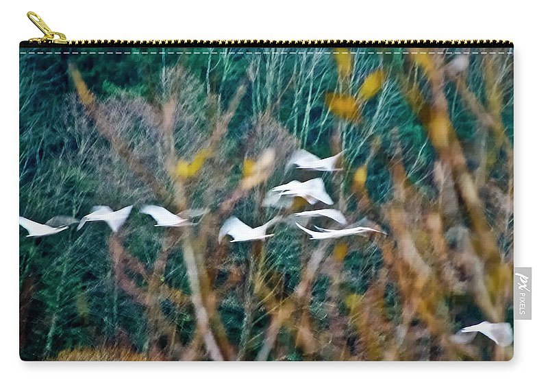 Nature Carry-all Pouch featuring the photograph Tundra Swans by Albert Seger