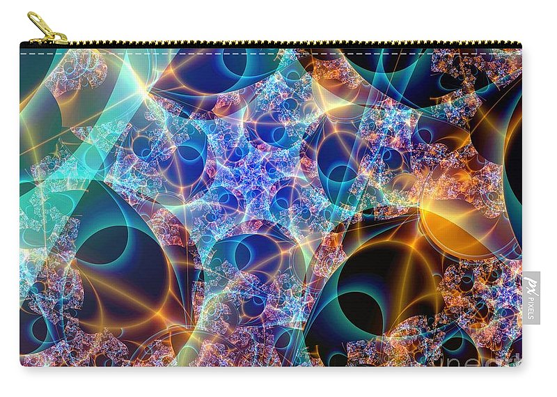 Fractal Art Carry-all Pouch featuring the digital art Tunica Intima by Ron Bissett