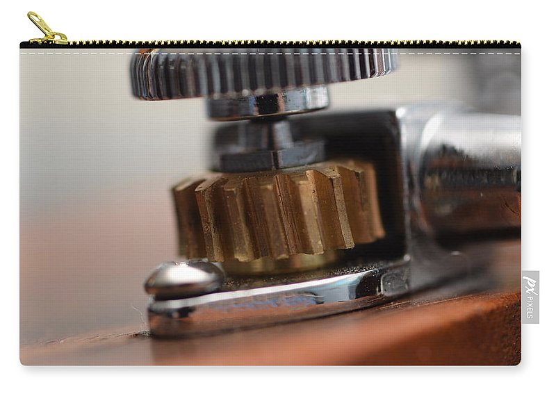 Art Macro Photography Simple Carry-all Pouch featuring the photograph Tuning Machine by Zachary Webb