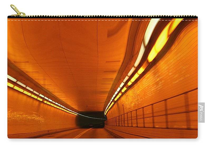 Tunnel Carry-all Pouch featuring the photograph Tunnel by Linda Sannuti