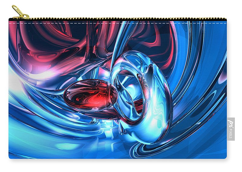 3d Carry-all Pouch featuring the digital art Tunnel Lust Abstract by Alexander Butler