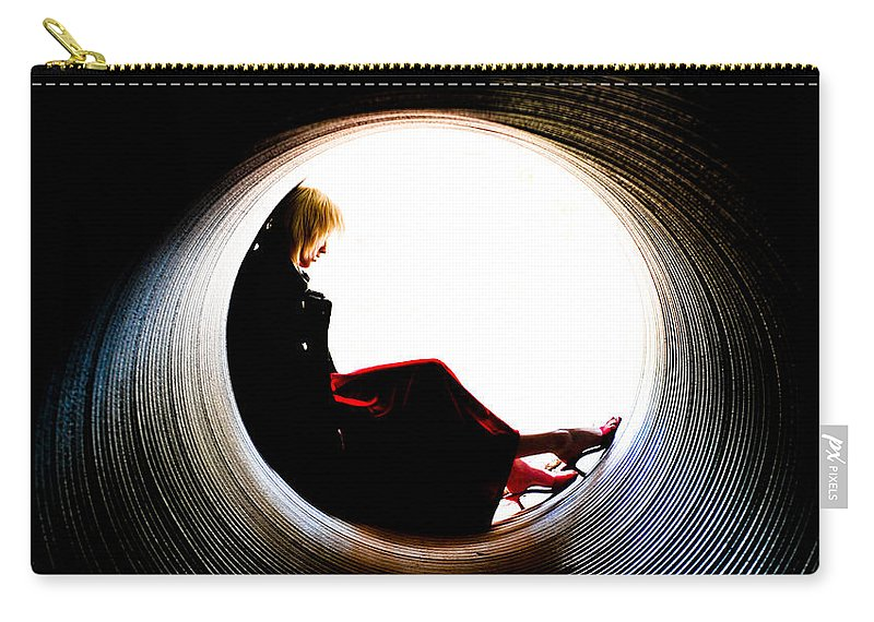 Woman Carry-all Pouch featuring the photograph Tunnel by Scott Sawyer