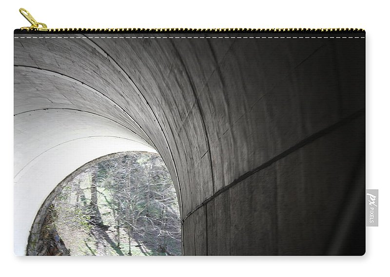Carry-all Pouch featuring the photograph Tunnel by Teresa Doran