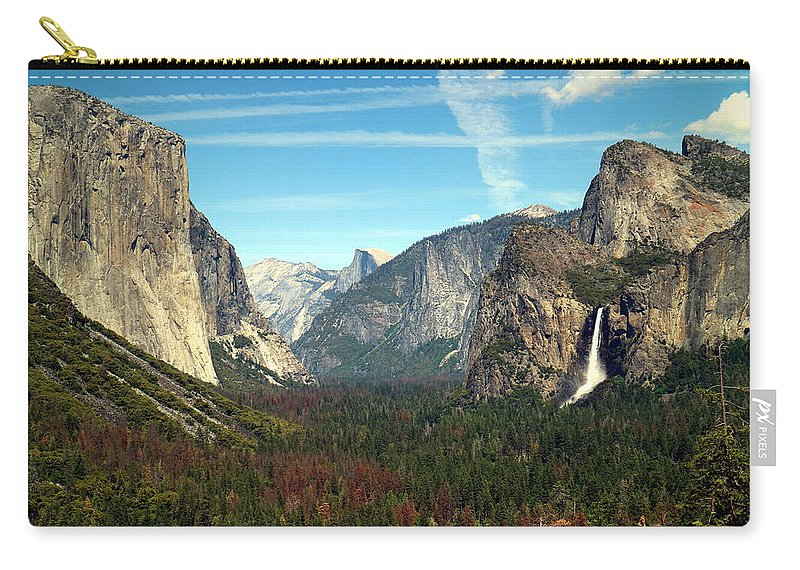 Tunnel-view Carry-all Pouch featuring the photograph Tunnel View Yosemite by Joyce Dickens