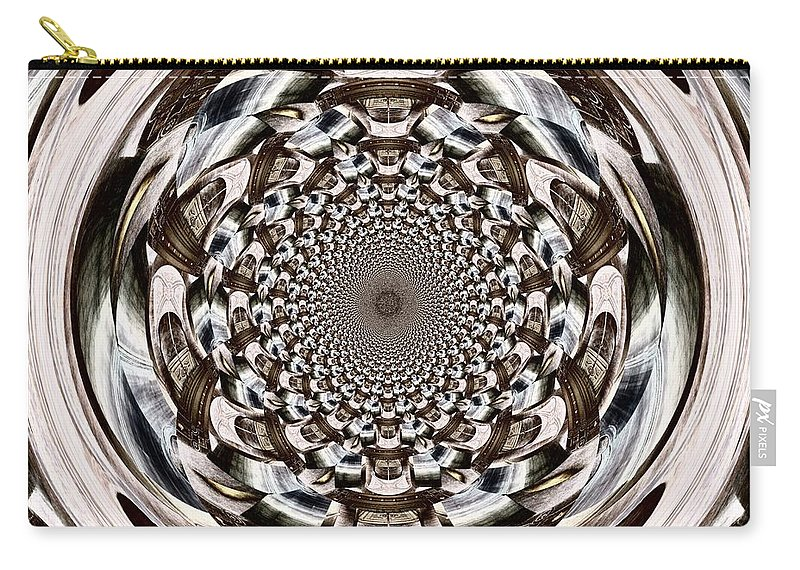 Orb Carry-all Pouch featuring the digital art Tunnel Vision by Charleen Treasures