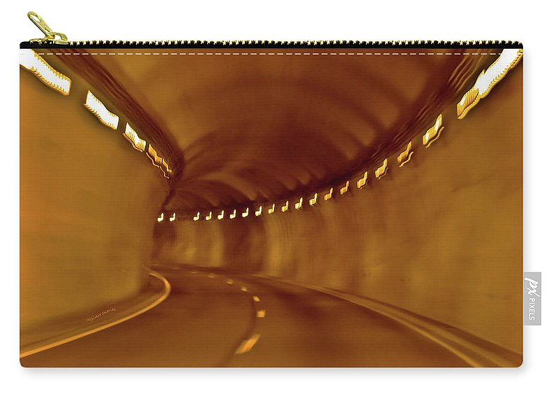 Tunnel Carry-all Pouch featuring the digital art Tunnel Vision Daze by DigiArt Diaries by Vicky B Fuller