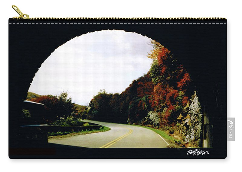 Tunnel Vision Carry-all Pouch featuring the photograph Tunnel Vision by Seth Weaver