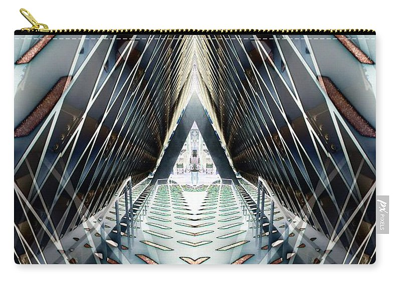 Seattle Carry-all Pouch featuring the digital art Tunnels End by Tim Allen