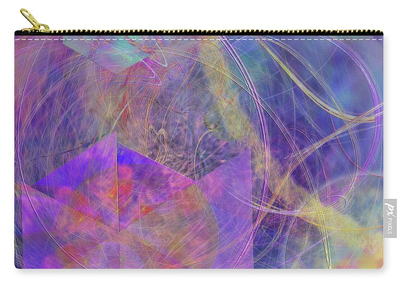 Turbo Blue Carry-all Pouch featuring the digital art Turbo Blue by John Beck