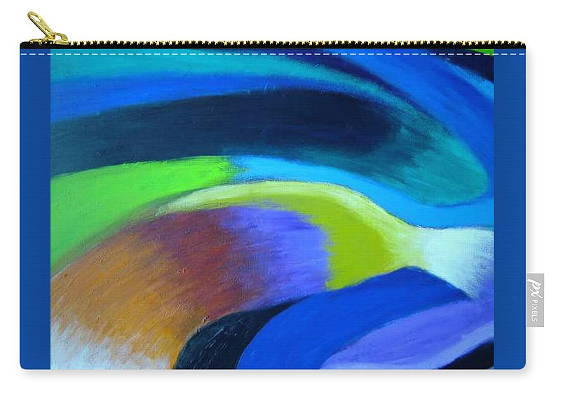 Turbulence Carry-all Pouch featuring the painting Turbulence by Jan Gilmore