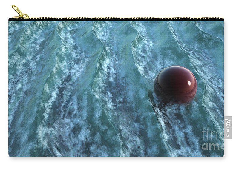 Waves Carry-all Pouch featuring the digital art Turbulence by Richard Rizzo