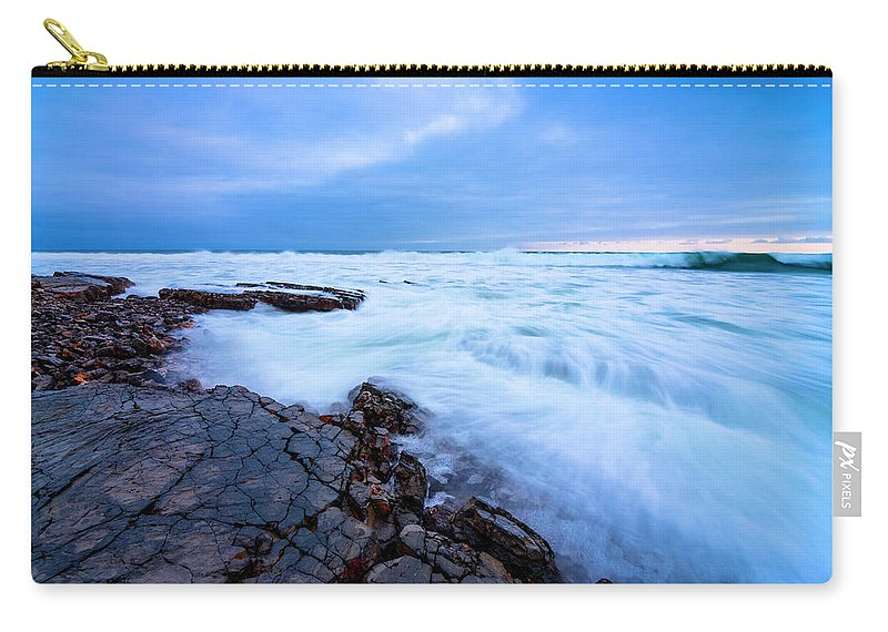 Landscape Carry-all Pouch featuring the photograph Turbulent Pacific by Radek Hofman