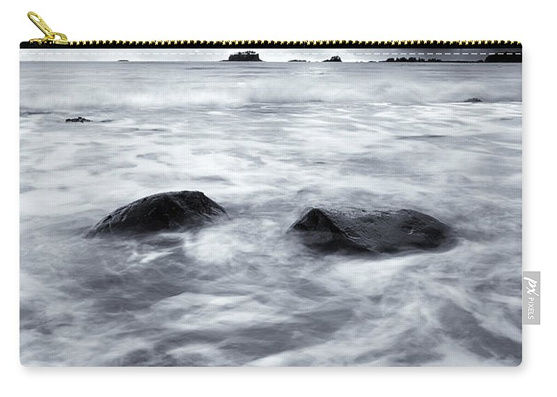 Sitka Carry-all Pouch featuring the photograph Turbulent Seas by Mike Dawson