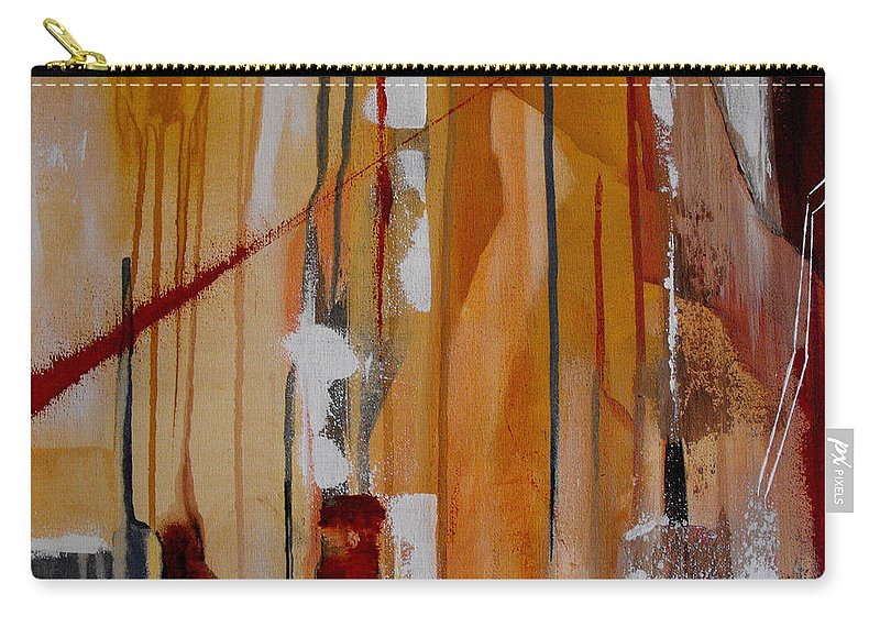Abstract Carry-all Pouch featuring the painting Turbulent Times by Ruth Palmer