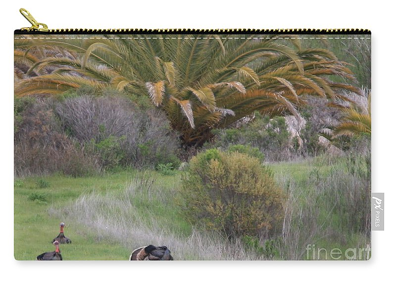 Card Carry-all Pouch featuring the Turkey Day Card by Carol Groenen