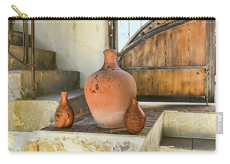 Turkish Doorway With Urns Carry-all Pouch featuring the photograph Turkish Doorway With Urns by Phyllis Taylor