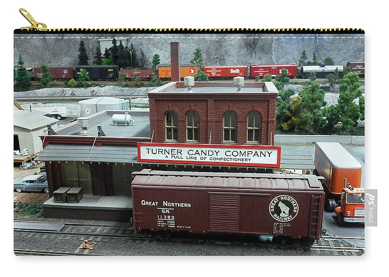 Blue Carry-all Pouch featuring the photograph Turner Candy Co by Pat Turner