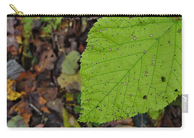 Autumn Carry-all Pouch featuring the photograph Turning Leaf by JAMART Photography