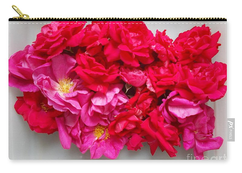 Roses Carry-all Pouch featuring the photograph Turning Up Roses by Karen Henninger