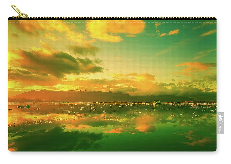 Iceland Carry-all Pouch featuring the photograph Turquoise Sunrise by Unsplash