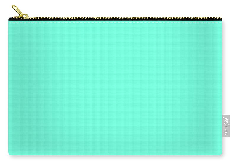 Turquoise Carry-all Pouch featuring the digital art Turquoise by Susan Link