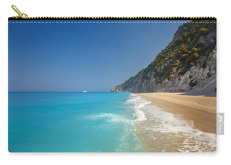 Beach Carry-all Pouch featuring the photograph Turquoise Water Paradise Beach by Sandra Rugina