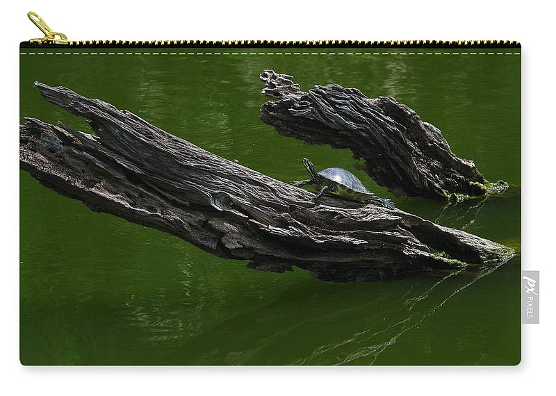 Art For The Wall...patzer Photography Carry-all Pouch featuring the photograph Turtle Art by Greg Patzer