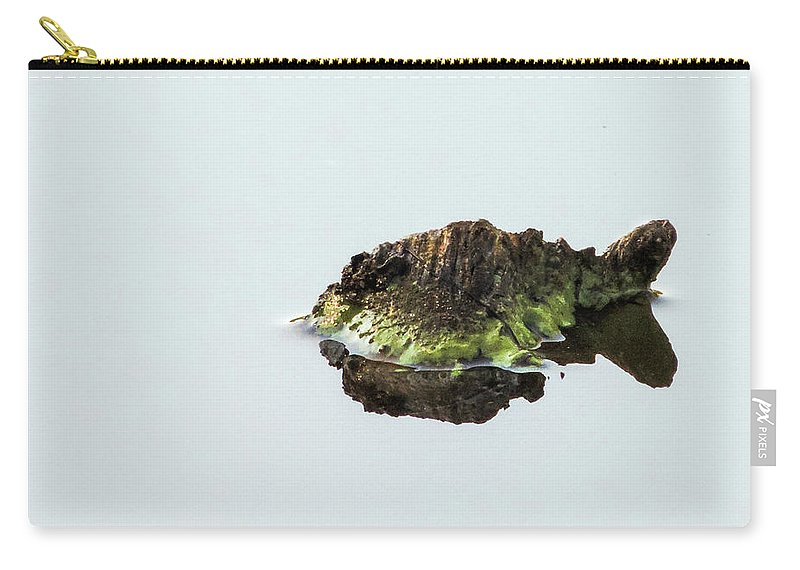 Turtle Carry-all Pouch featuring the photograph Turtle or Mountain by Randy J Heath