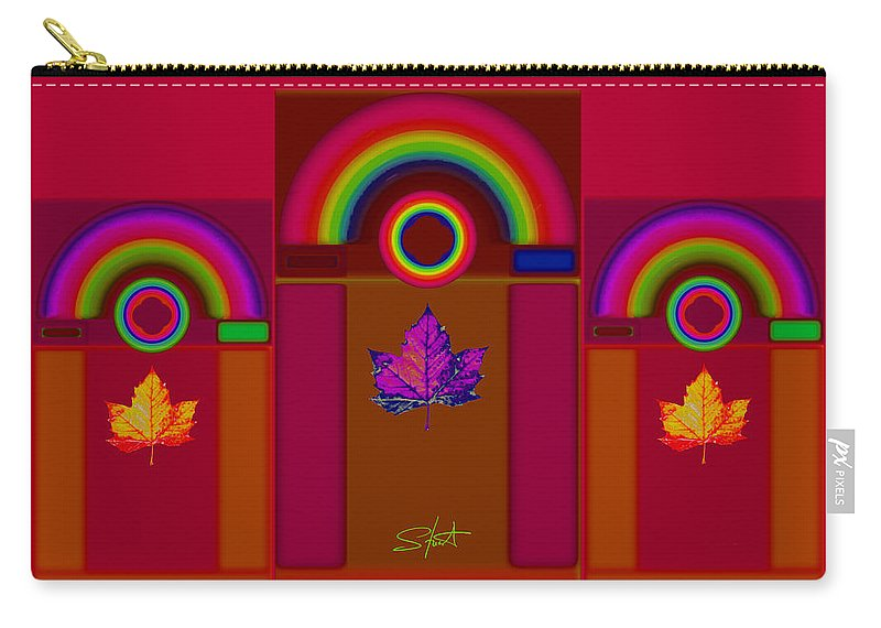 Classical Carry-all Pouch featuring the digital art Tuscan Fall by Charles Stuart