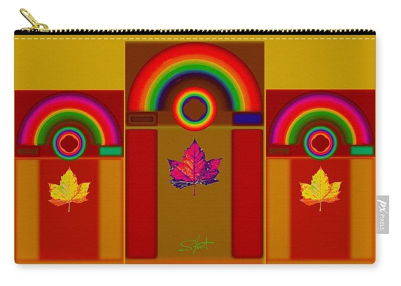 Classical Carry-all Pouch featuring the digital art Tuscan Harvest by Charles Stuart