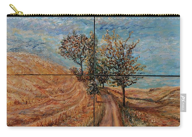 Landscape Carry-all Pouch featuring the painting Tuscan Journey by Nadine Rippelmeyer
