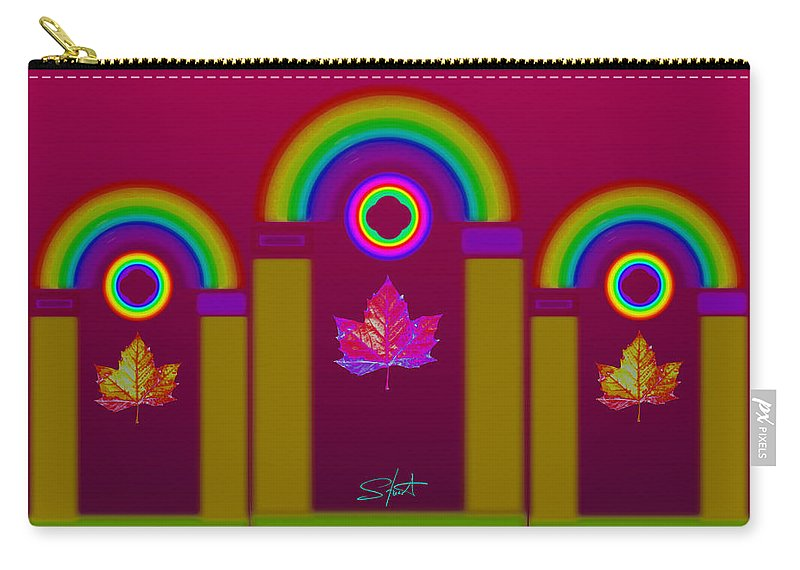 Classical Carry-all Pouch featuring the painting Tuscan Magenta by Charles Stuart