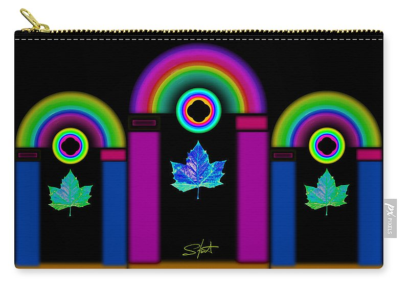 Classical Carry-all Pouch featuring the painting Tuscan Neon by Charles Stuart