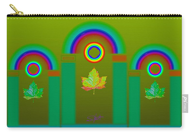 Classical Carry-all Pouch featuring the digital art Tuscan Olive by Charles Stuart