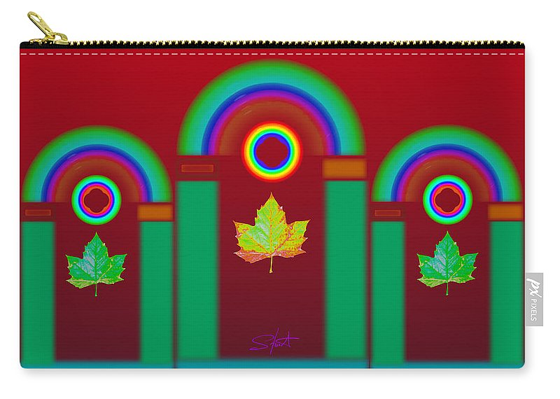 Classical Carry-all Pouch featuring the digital art Tuscan Red by Charles Stuart